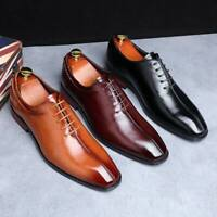 Classic Men Business Formal Dress Shoes Pointed Toe Casual Oxfords Leather Shoes