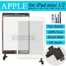 White Screen For iPad mini 1 2 Touch Digitizer Replacement With Home Button + IC