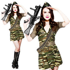 Army Girl Plus Size Large UK 18-20 Military Ladies Uniform Fancy Dress Costume