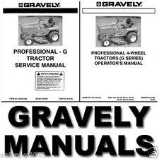 GRAVELY PRO G SERVICE Manual & PARTS Catalog -204- MANUALS OVERHAUL - HUGE SET!!