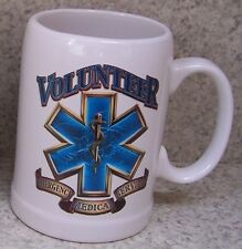 Coffee Mug Fire Police Rescue Volunteer E.M.S. New 20 ounce cup with gift box