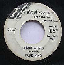 Hear! Teen Girl Promo 45 Doris King - Blue World / My Heart Has A Home On Hickor