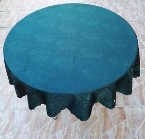 Tischdecke rund 160 cm grün pflegeleich polyester bügerfrei waschbar tischtuch