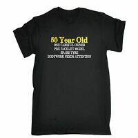 50 Year Old One Careful Owner T-SHIRT tee 50th dad grandad funny birthday gift