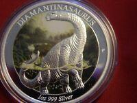 2015-P 1 oz. $1 Australia Age of Dinosaurs Diamantinasaurus Proof (OGP & COA)