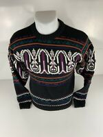 Vintage 90's CATTIVO Coogi Style Retro Miami Vice Chunky Knit Bill Cosby Sweater