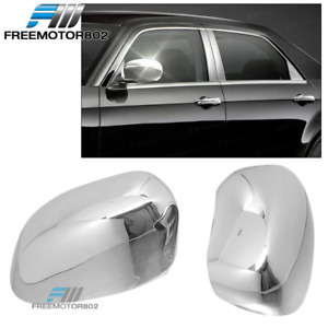 Fit 05-10 Chrysler 300 300C Dodge Magnum Charger Chrome Mirror Covers Trims