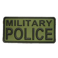 PATCH JTG 3D GOMME MILITARY POLICE KAKI PAINTBALL AIRSOFT MILITAIRE INSIGNE