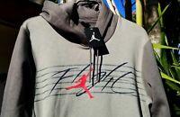 SZ MEDIUM 🆕Nike Air Jordan Flight Fleece Pullover Hoodie Men's Green 930525-018