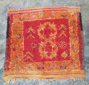 Vintage Moroccan wool rug  103 x 109 cm