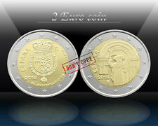SPAIN 2 x 2 EURO 2018 (SANTIAGO + King FELIPE VI) Commemorat. 2 euro Coins *UNC