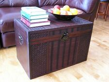 Hawaii Wood Storage Trunk Wooden Hope Chest Set of Two