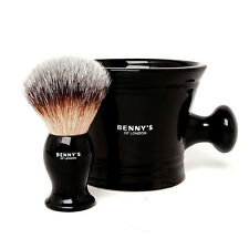 SHAVING BRUSH & BOWL GIFT SET - From Benny's of London - Perfect Present & Gift