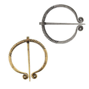 Penannular Viking Brooch Cloak Pin Badge Norse Vintage Jewelry Shawl Accessory