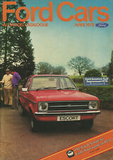 CAR BROCHURE: FORD CARS - APRIL 1978 (INCLUDES ESCORT RS 2000/RS MEXICO)