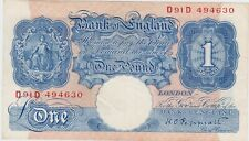 More details for b249 peppiatt blue d91d £1 world war ii note in near extremely fine condition