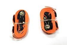 One Pair of 12-Foot Core Products' Orange Tie-down Ratchet Straps (RAT122)
