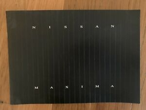 Nissan Maxima  Sales  Brochure Specifications Etc Rare