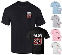 NEW Michael Jordan 23 Men's T-Shirt Front & Back Print Cotton shirt Top Tumblr