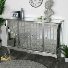 Large mirrored sideboard storage unit ornate French living room hall furniture
