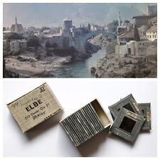 Mostar, Мостар, 1939, 25 Blechrahmen Farb-Diapositive von 1939