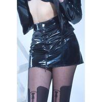 Patrice Catanzaro - Livinia - Mini Jupe fetish sexy courte en vinyle noir
