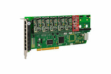 OpenVox A800P51 8 Port Analog PCI Base Card + 5 FXS + 1 FXO, Ethernet (RJ45)