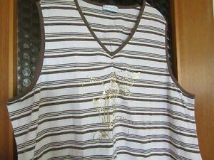 ULLA POPKEN Sport Shirt, Top mit Print GR 54 / 56 gestreift Neu