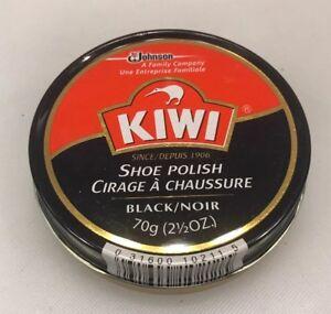 Kiwi Shoe Polish Black 2.5 Ounce 70 g Tin SC Johnson