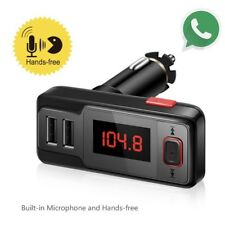 Car Bluetooth Wireless FM Transmitter AUX Radio Adapter MP3 Handsfree Calling