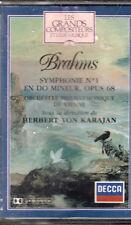 K 7 AUDIO (TAPE) KARAJAN / BRAHMS SYMPHONIE N° 1 EN DO MINEUR OPUS 68 (NEUVE)