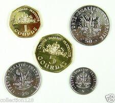 Haiti coins set of 5 pieces 1995-2011 UNC
