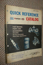 1949-1965 FORD FAST MOVING PARTS CATALOG ORIGINAL FOMOCO BOOK !