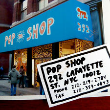 Ultra Rare Keith Haring ((POP SHOP BUSINESS CARD)) + Vintage PHOTO New York City