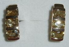 Ohrringe 375 Gold mit Citrine   (c8182)