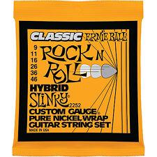 Ernie Ball 2252 Pure Nickel Wrap Hybrid Slinky Electric Guitar Strings 9-46