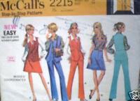 Vintage McCalls SEWING Pattern Blouse Pants Vest Skirt