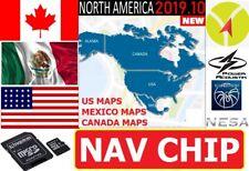 CANADA MEXICO U.S. >NORTH AMERICAN MAPS SD/MICRO CHIP FOR CAR STEREO RADIO