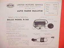 1940-1948 CHEVROLET PONTIAC FORD MERCURY DODGE DELCO RADIO SERVICE MANUAL R-705