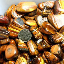 50g New Bulk Tiger Eye Tumbled Stones Rock Small Natural Stone 35mm Hot