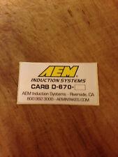 AEM carb legal intake sticker for JDM air intake systems