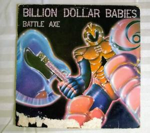 "Billion Dollar Babies ""Battle Axe"" Original Vinyl LP Polydor 1977 Good PD-1-610"