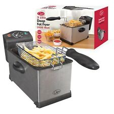 Quest Professional Stainless Steel Deep Fat Chip Fryer Kitchen Large 3L 3 Litre