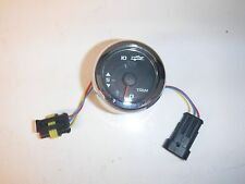Mercury SmartCraft Trim Gauge Glass Lens Black Face Chrome Bezel P.N. 79-8M00...