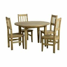 Pine with Drop Leaf and 5 Pieces Table & Chair Sets