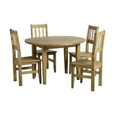 Kitchen Up to 4 Round Table & Chair Sets with Drop Leaf