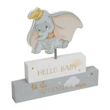 Disney Dumbo Hello Baby Standing Block Plaque Elephant Nursery Decoration Gift