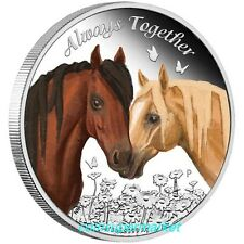 Tuvalu 2017 Always Together Horses Love Company 50 Cents Silver Proof Coin Perth
