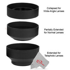 58MM Soft Rubber Collapsible Lens Hood for Canon DSLR Cameras