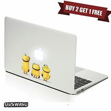 Macbook Air Pro Vinyl Skin Sticker Decal Naked Cute Minions Despicable Me BN032